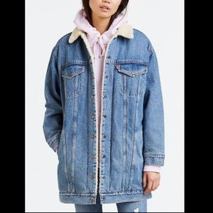 LEVIS Long Jean Sherpa Jacket